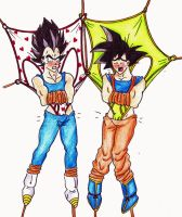 DBZ wedgies by Black-Chocobo99