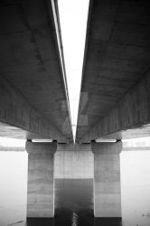 Pupin's Bridge Black and White Architecture by aleexdee