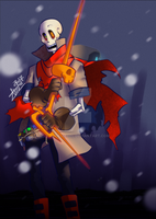 DustBelief Papyrus (+speedpaint) by aude-javel