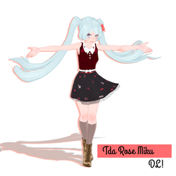 Tda Rose Miku model dl ! by thos-beans