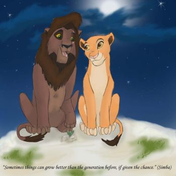 Kovu and Kiara by silenceangel