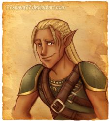 DAO:Zevran +sketch and colors+ by 77Shaya77