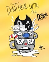 Bendy in Cuphead by REHJDON
