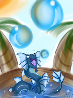 Dragonvale- My Water Dragon by RubyRedOrca