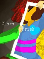 Frisk And Chara by Bubber-chuuu