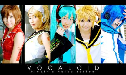 Cosplay : Vocaloid Family by yuegene