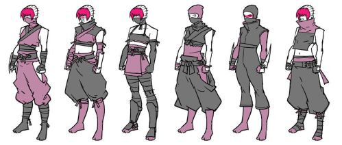TMNT Secrets Of The Ooze: Pimiko outfits by mooncalfe