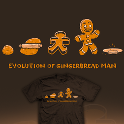 The Evolution of (Gingerbread) Man - tee by InfinityWave