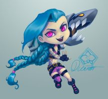 Jinx - Chibi sticker by Dicenete