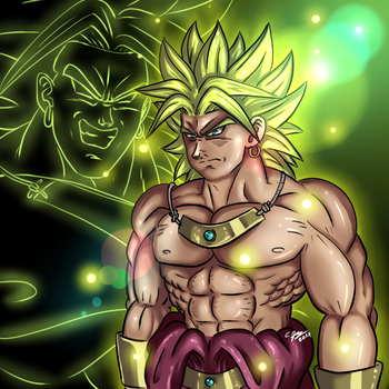 Angry Super Saiyan Broly by ShynTheTruth