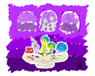 Scribble Inside Out Emotions w background by RsrFur