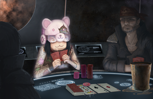 Space Poker: In Space by Khalo