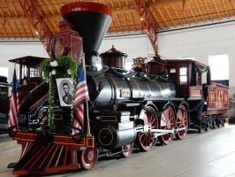 Thatcher Perkins as Lincoln's Funeral Engine by rlkitterman
