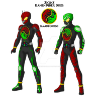 COMMISSION: Kamen Rider DuOs! by RamenDriver