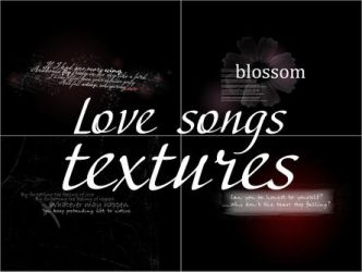 Text textures - Love Songs by Aderianu