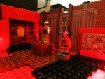 LEGO DOOM MARS In Bricks CYBERDEMON BATTLE by Digger318