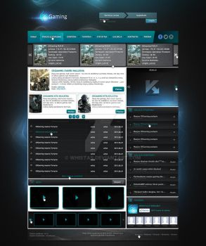 OSGaming web design by Whistas