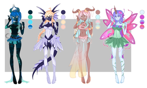 Dextro adopts: Fantasy babes CLOSED by Lunathyst
