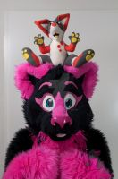 Pinky And Slushie Plushie by FurryFursuitMaker