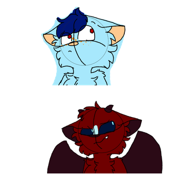 i drew these with a mouse..... by skyfeather0066
