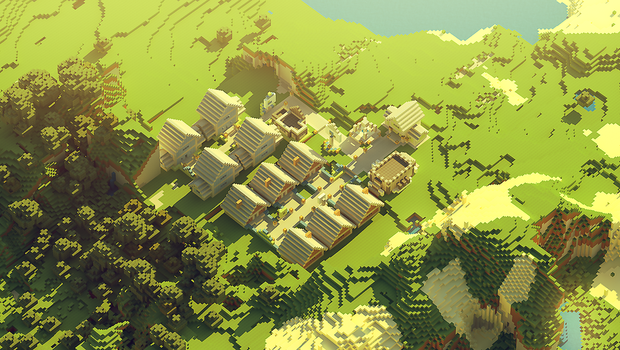 Minecraft: small village by cuberon