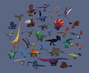 Dinos Shapes and Colors... by AntoninJury