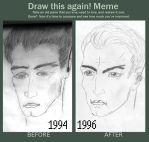 Meme  before and after THE MAN IN THE MAZE by Yatanis