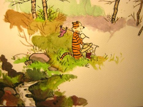 calvin and hobbes by maggie14and1