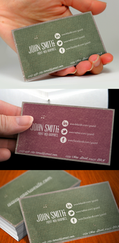 Social Media Vintage Business Card by Nyz87