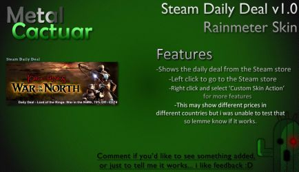 Steam Daily Deal v1.0 by MetalCactuar