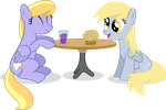 Cloud Kicker and Derpy by UlyssesGrant