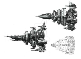 Stratogon Spaceships 1 by AmazingTrout