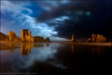 Bandon Beach at Midnight: One by walker1812