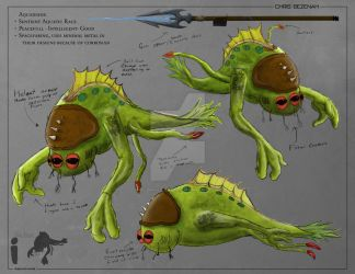 Aquadian Alien Concept Art by Alpha-Leader