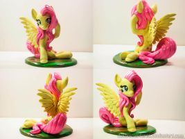 Flowing mane Fluttershy by dustysculptures