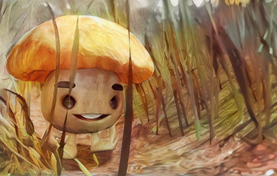 Zbrush Doodle: Day 1237 - Mushroom in the Grass by UnexpectedToy