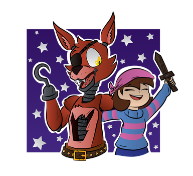 Foxy and Frisk by TyelerKostlan