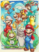 Copic Super Mario Power-Ups by LemiaCrescent