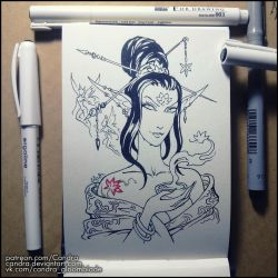 Inktober 2018 - Lotus by Candra
