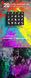 20 Watercolor Splatter Paint Photoshop Brushes by env1ro