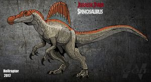 Jurassic Park: Spinosaurus (new art +info) by HellraptorStudios