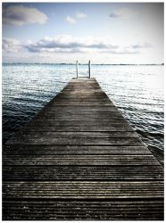 Jetty in Hoorn - the Netherlands by Stepz