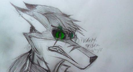 Enraged (sketch) by CrimsonFox74