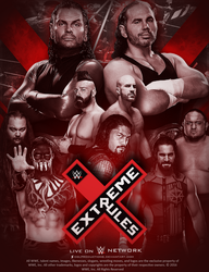 WWE Extreme Rules 2017 - Custom Poster by DGLProductions