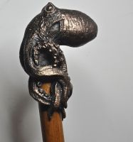 Kraken Cane, Bronze by DellamorteCo