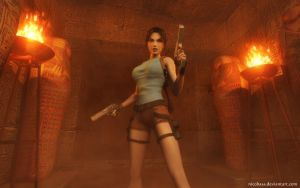 lara Croft 90 by Nicobass