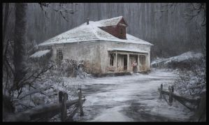 Old house in a forest by WiredHuman