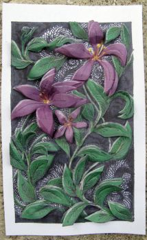 Purple Clematis Panel by Artdog53