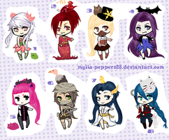 ADOPTABLES - CLOSE by Mylla-Peppers23