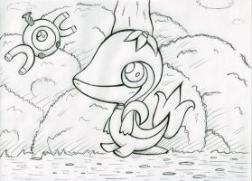 Magnemite and Snivy